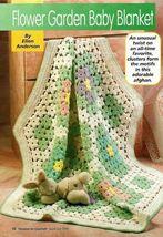 Y794 Crochet PATTERN ONLY Flower Garden Baby Blanket Pattern Join as you Go - $7.50