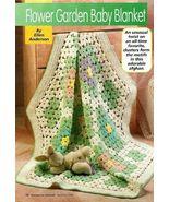 Y794 Crochet PATTERN ONLY Flower Garden Baby Bl... - $7.45