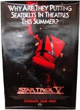 1989 STAR TREK V Advance Movie POSTER 27x40 Original Vintage 1-Sided Rol... - $34.99