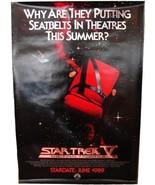 1989 STAR TREK V Advance Movie POSTER 27x40 Original Vintage 1-Sided Rol... - $34.99