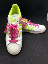 Adidas Superstar 1 NBA Series Leather Shell Toe US 13M UK 12.5M Pink/Gre... - $69.25