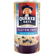 Quaker Select Starts, Gluten Free, Quick 1-Minute Oats, 18 oz Canister - $5.00