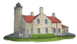 """""""Captain I See The Light""""Custom and Unique Lighthouse[Old Mackinac Point... - $23.75"""