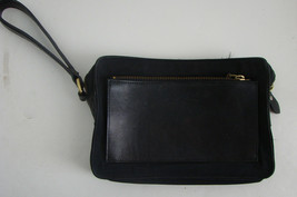 Ralph Lauren Vintage Black Leather Clutch Bag - $134.99
