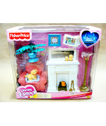 New Fisher Price Loving Family Living Room Dollhouse Fireplace Furniture... - $38.99