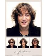 JOHN LENNON ~ SMILES COLLAGE 24x36 MUSIC POSTER Beatles NEW - $21.00