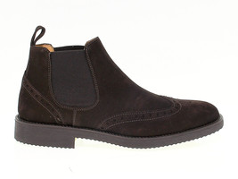 Low boot Antica Cuoieria 20614 in brown suede leather - Men's Shoes - $169.86