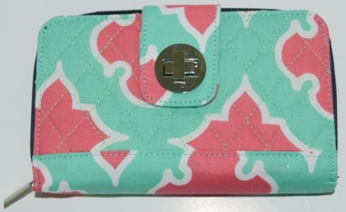 NGIL OTP517NY Quilted Geometric Pattern Microfiber Bifold Wallet