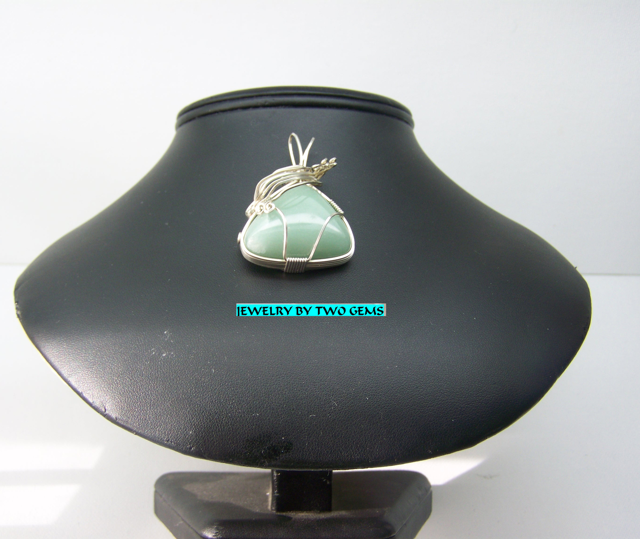 Jewelry By Two Gems (Wp103) Sterling Silver N. C. Aventurine Wire Wrap Pendant