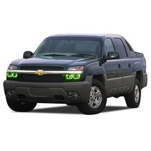 FLASHTECH for Chevrolet Avalanche 03-06 Green Single Color LED Halo Ring... - $185.22