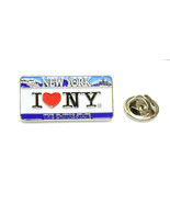 I Love NY On License Plate Enamel Lapel Pin Licensed by the State of NY - $9.99