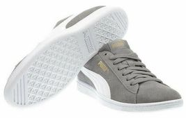 NEW PUMA Ladies Womens Suede Vikky Gray Tennis Gym Shoes Sneakers image 5