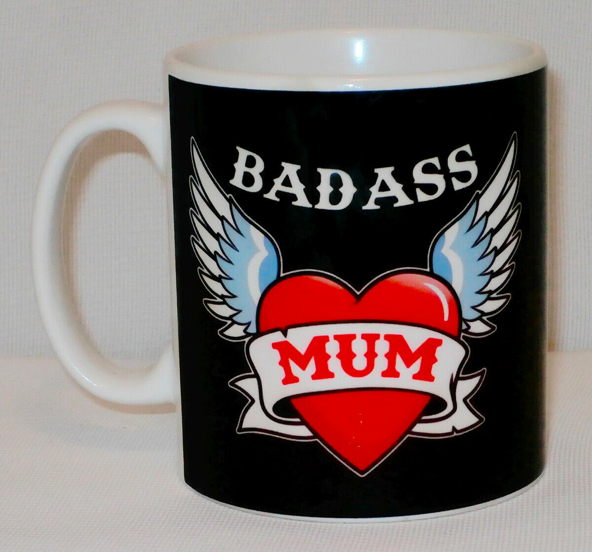 Badass Mum Mug Can PERSONALISE Great Mother's Day Mummy Bad Cup Biker Funny Gift