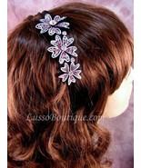 "Austrian Crystal Headband Hairband ""Sophie"" Pink free organza bag - $15.75"