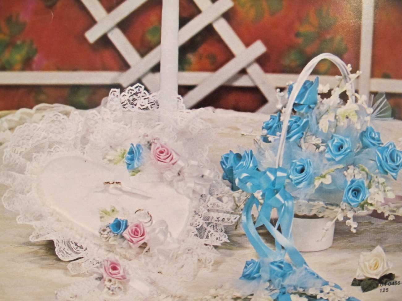 Keepsake Ribbon Roses Patterns Weddings Cake Tops Flowers Baby Bassinets etc