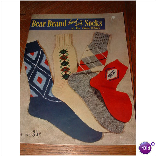 Primary image for 1950'S BEAR BRAND HAND KNIT SOCKS VOL.340