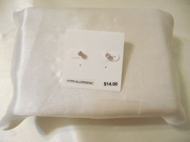 "Department Store 1/8"" Rose Gold Tone Cubic Zirconia Stud Earrings C540 - $9.59"