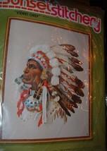 "VINTAGE SUNSET STITCHERY""INDIAN CHEIF"" KIT EMBRODERY - $29.95"