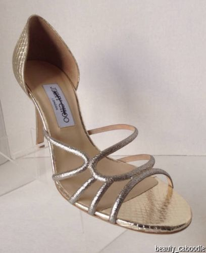 NEW Authentic JIMMY CHOO Straits D'Orsay Gold Sandals (Size 40.5) - MSRP $795.00 image 9