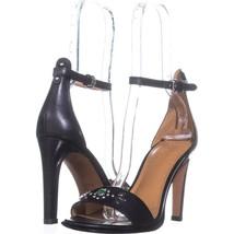 Coach Indi Ankle Strap Dress Sandals 924, Black, 8 US - $91.19