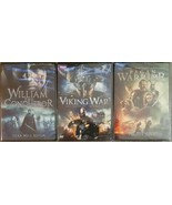 itn Cinedigm BBC Viking Wars, William the Conqueror, Pagan Warrior DVD Lot of 3 - $14.84