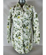 ANN TAYLOR womens Small L/S ivory FLORAL soft FULLY LINED button down ja... - $56.88