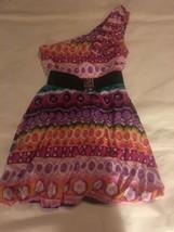 Girls Size 10-12 Chillipop Multi-Colored One Shoulder Bubble Hem Summer ... - $22.00