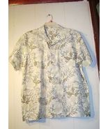 Tranquility pastel colored Island style shirt Size Large 100% Cotton - $12.99