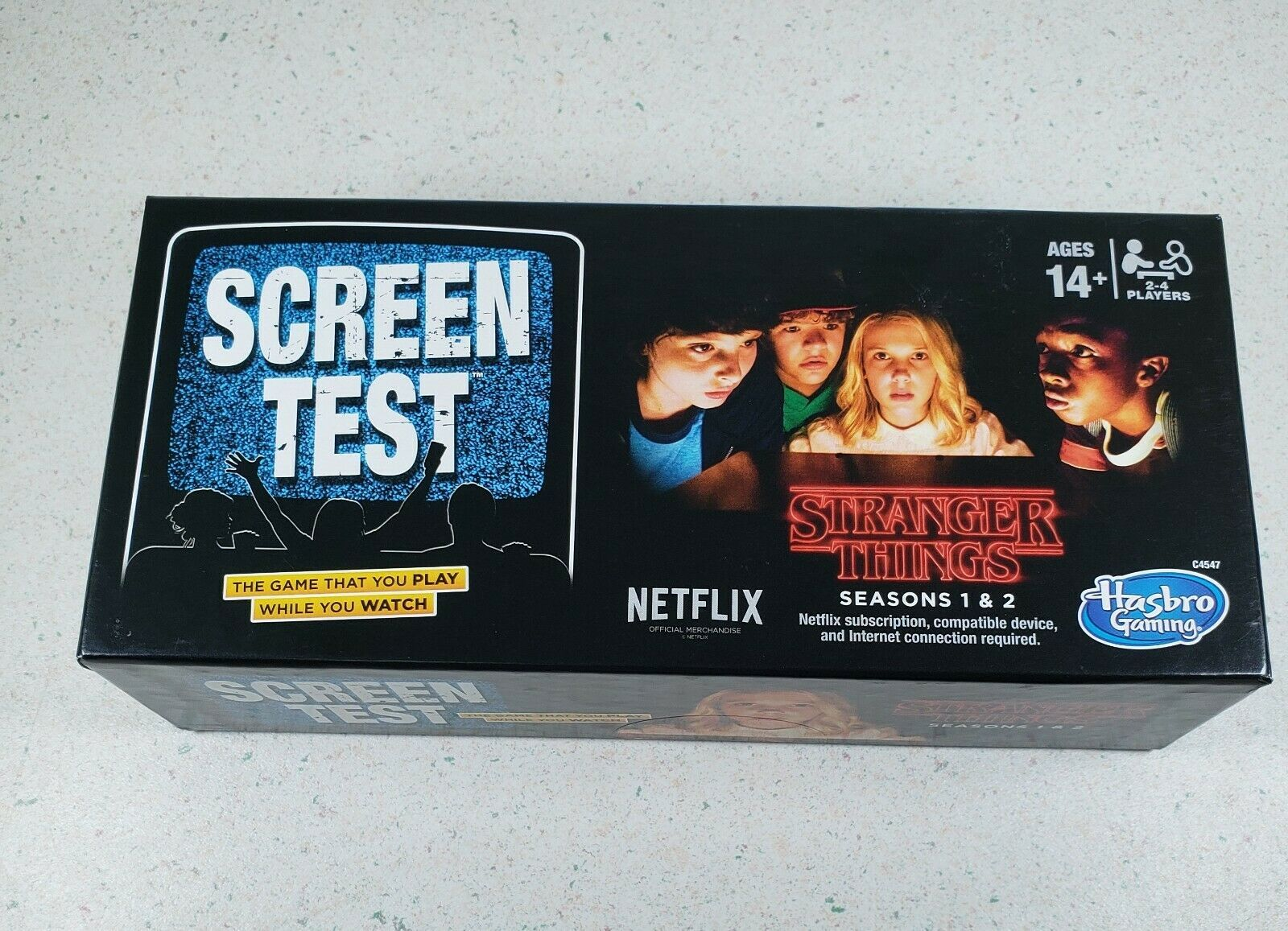 Primary image for Stranger Things Seasons 1-2 SCREEN TEST Hasbro Game Official NETFLIX New Sealed