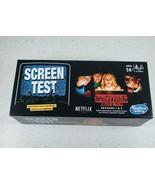 Stranger Things Seasons 1-2 SCREEN TEST Hasbro Game Official NETFLIX New... - $18.85