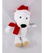 """Kinder Enno Bear White Polar Plush 9"""" German Stuffed Animal toy - $7.95"""