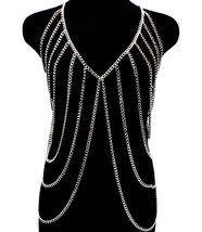 Body Chain Silver Armor Draping Chains Avant Ga... - $34.99