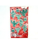 American Greetings Christmas Cactus Stickers 2 Sheets 3D Bubble Puffy Ho... - $7.91