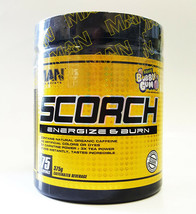 MAN SPORTS SCORCH 75 servings Energize Fat Burner Organic Caffeine - $36.25