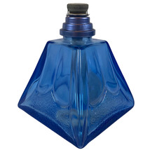 VTG Blue Lampe Berger Fragrance Oil Burner Cobalt blue Glass Lamp Pyrami... - $33.45