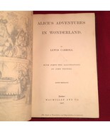 Alice's Adventures in Wonderland Lewis Carroll, 1867 1st/2nd -signed / L... - $1,550.00