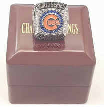 2016 Chicago Cubs Baseball Solid Champions Ring with Wooden Box - $45.99