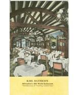 Karl Ratzsch's Milwaukee's Old World Restaurant, Milwaukee, Wisconsin, P... - $4.99