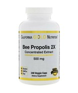 Natural Bee Propolis Concentrated Extract General Health 500 mg 240 Veggie Caps - $32.31