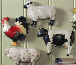 Country Farm Animal Wall Decor Set of Four - $21.50