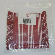 Longaberger Handle Gripper Holiday Berry Red Stripe For Basket New 2190317 - $11.83