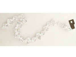 Acrylic Clear Bicone Bead Strand, 12 Inches