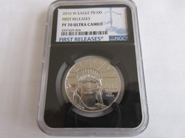 2016-W $100 Platinum Eagle NGC PF 70 Ultra Cameo First Releases - $3,995.00