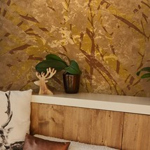 Abstract Wallpaper Bronze Copper Metallic Textured Modern Roll Wall cove... - $3.50+