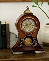 "Nice Silent Grandfather Style Silent Clock Mahogany Roman Numerals 15""x1... - $110.00"