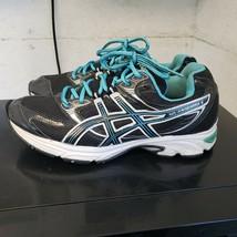 Asics Womens Gel Kanbarra 6 T188N Running Shoes Size 8 Black Blue Sneakers - $24.11