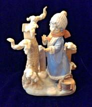 Lladro Figurine #5287 Winter Frost, Child with Bird in Snow  1985 - $179.10