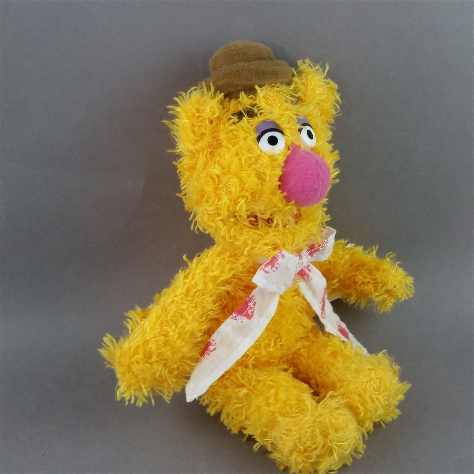 Fozzie Bear Plush Bean Bag Doll Muppets Sababa Toy 8 inch