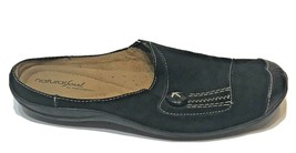 Natural Soul Naturalizer Black Leather Suede Shoes Womens Size 7.5 Mules Slip On - $20.26