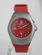 Seiko watches red rubber bracelet kinetic base metal plastics  SWP309 - $152.46